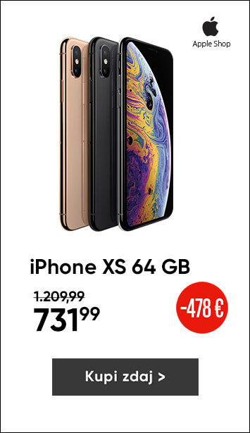 Apple iPhone Xs 64GB kar 39 % ugodneje
