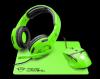 TRUST GTX790 Green 3v1 žične slušalke + miška + podloga za miško (komplet)