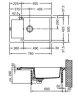 MRG 611-78 XL ONYX KORITO FRANKE