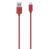 Belkin Micro USB CS 2m Kabel rdeč