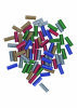 BOSCH Lepilni vložki za Gluey (večbarvni, z bleščicami)