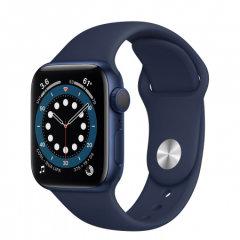 Apple Watch S6 GPS, 40mm Blue Aluminium Case Navy Sport Band