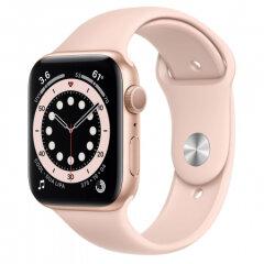 APPLE Watch S6 GPS, 44mm Gold Aluminium Pink Sand Sport Band - Regular pametna ura
