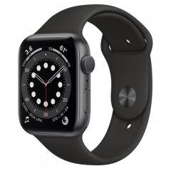 Apple Watch S6 GPS, 44mm Space Gray Aluminium Black Sport Band - Regular
