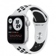 APPLE Watch Nike SE GPS, 40mm Silver Aluminium Black Nike Sport Band pametna ura