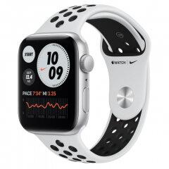 APPLE Watch Nike SE GPS, 44mm Silver Aluminium Black Nike Sport Band pametna ura