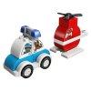 Lego Duplo 10957 Gasilski helikopter in policijski avtomobil