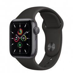 APPLE Watch SE GPS, 40mm Space Gray Aluminium Black Sport Band pametna ura
