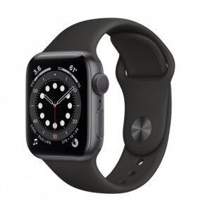 APPLE Watch S6 GPS, 40mm Space Gray Aluminium Case with Black Sport Band - Regular pametna ura