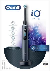 ORAL B iO8 črna električna zobna ščetka