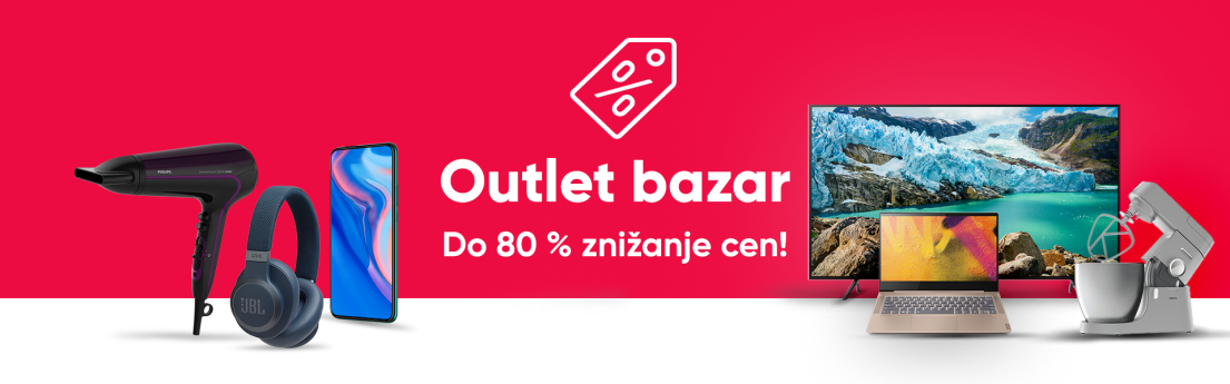 Outlet bazar - do 80 % znižanje cen!