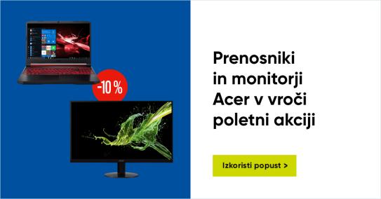 Acer prenosniki in monitorji