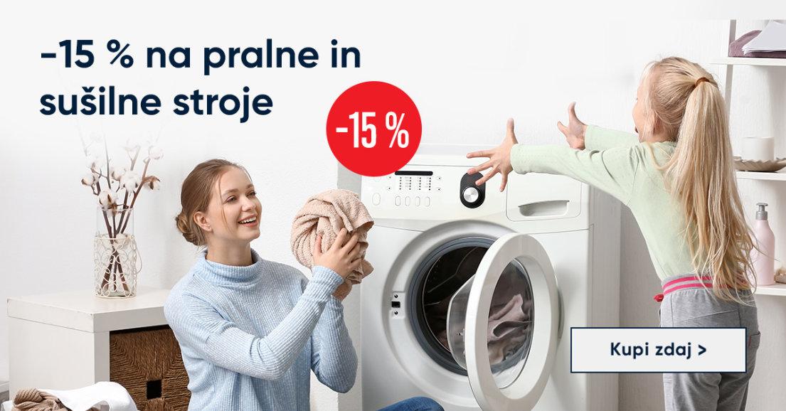 -15 % na pralne in sušilne stroje
