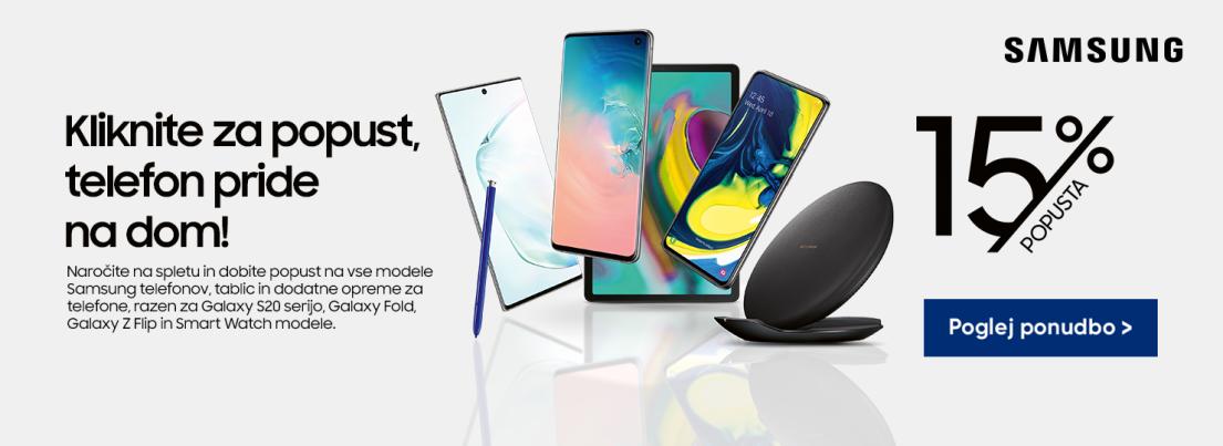 Samsung telefonija in dodatki