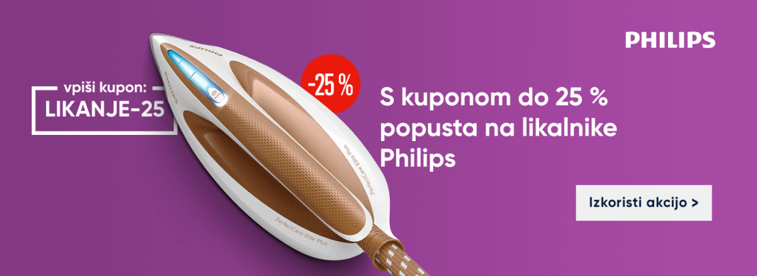 Koda LIKANJE-25 za 25 % popust na izbrane Philips likalnike
