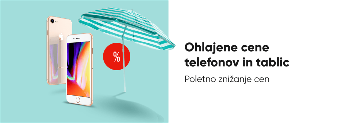 Ohlajene cene telefonov in tablic