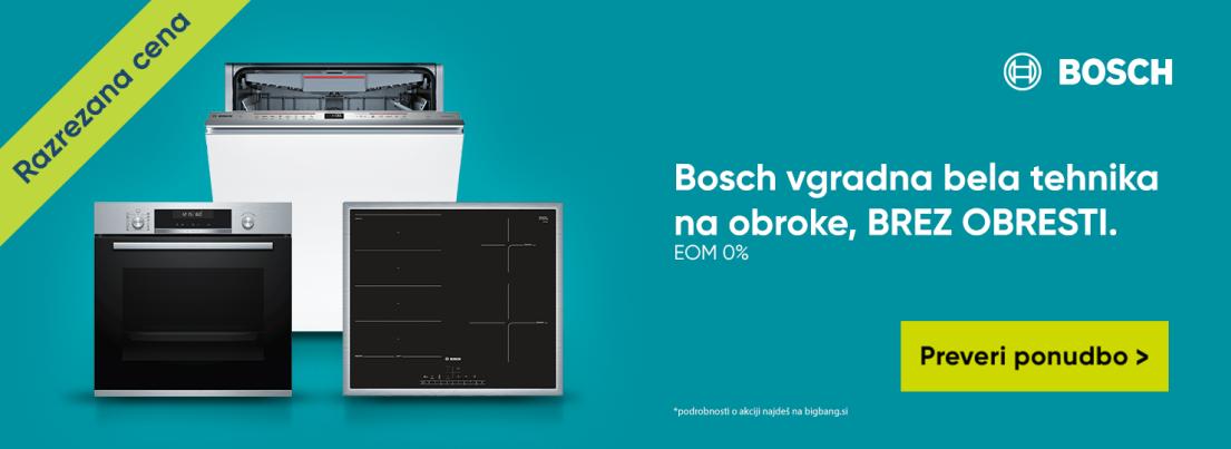 Bosch vgradna bela tehnike na obroke