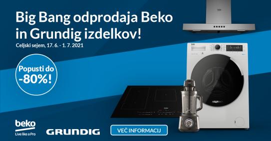 Velika odprodaja izdelkov Beko in Grunding
